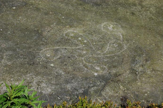The Swastika stone Ikley Moor